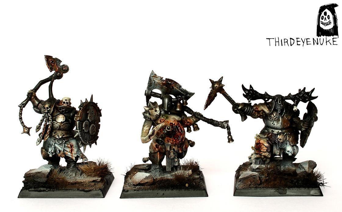 Putrid Blightkings, Thirdeyenuke, Warhammer Fantasy, Warriors Chaos
