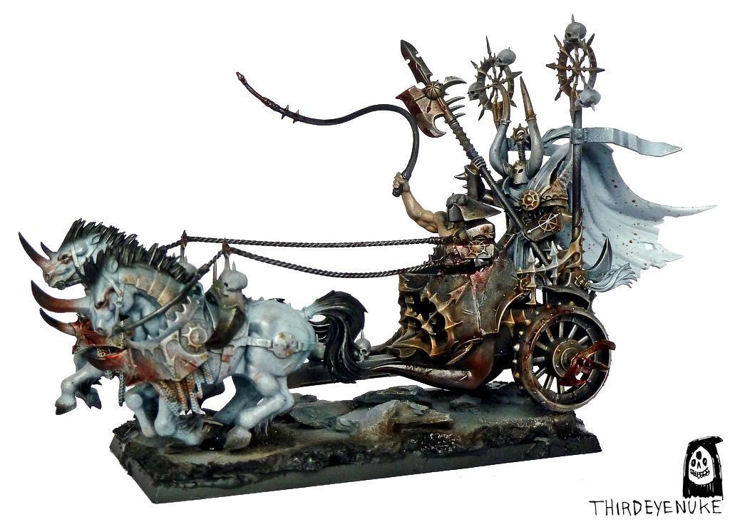 Chaos Chariot, Thirdeyenuke, Warhammer Fantasy, Warriors Of Cahaos