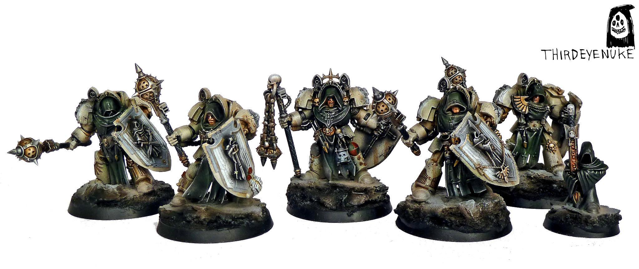 Adeptus Astartes, Dark Angels, Deathwing Knights, Thirdeyenuke, Warhammer 40,000, Warhammer Fantasy
