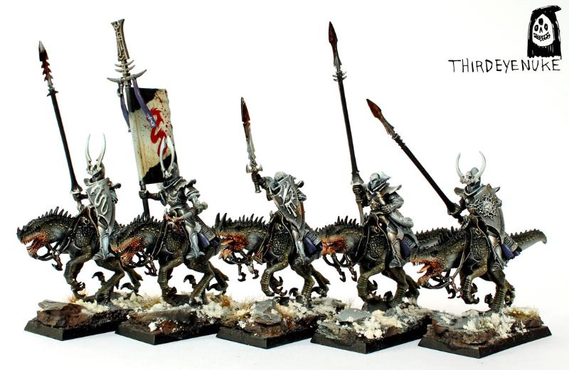 Cold One Knights, Dark Elves, Thirdeyenuke, Warhammer Fantasy