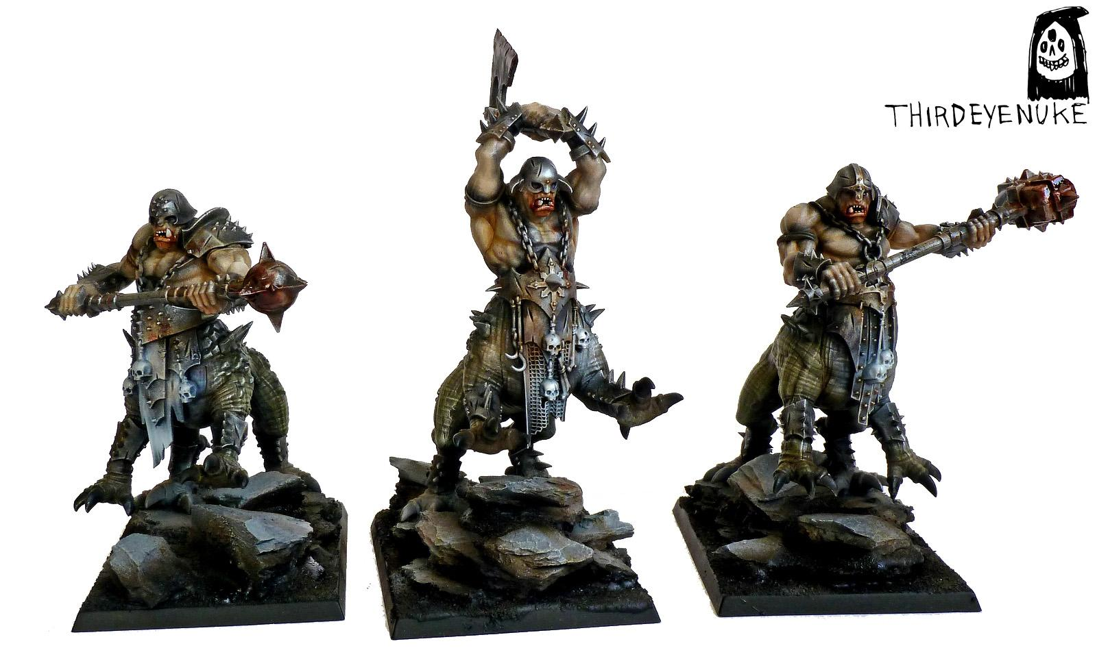 Dragon Ogres, Thirdeyenuke, Warhammer Fantasy, Warriors Of Chaos