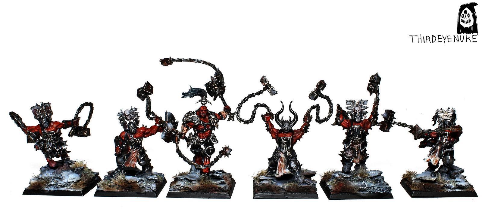 Chaos, Khorne Wrathmongers, Thirdeyenuke, Warhammer Fantasy, Warriors