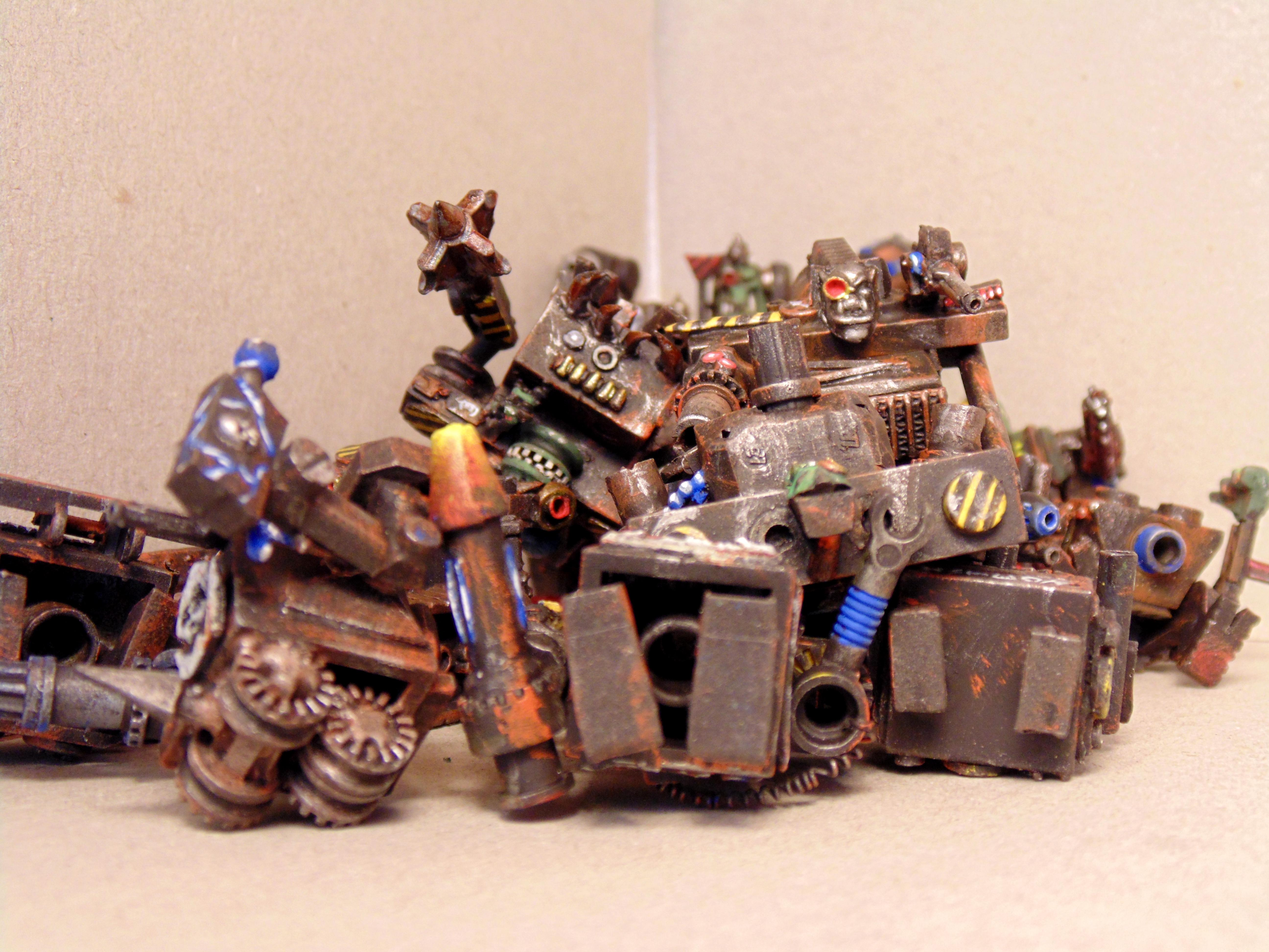 Army, Conversion, Dead Robots, Epic, Gargant, Green, Mob, Nob, Orks, Rust, Scrap Pile, Scratch, Scratch Build, Stampfa, Stompa, Superstompa, Waaagh, Warhammer 40,000