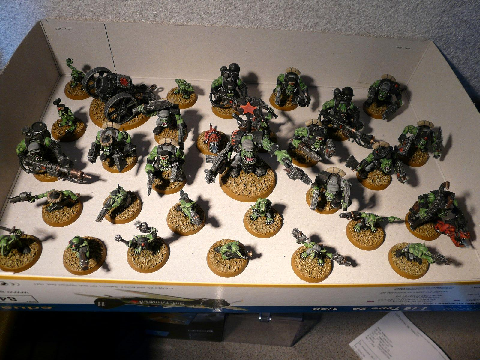3rd Edition, Army, Blood Axe, Burna Boyz, Grots, Kromlech, Orks, Warboss