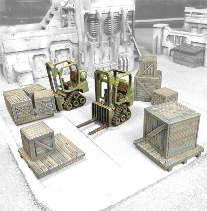 Cargo, Civilian, Crates, Forklift, Mdf, Truck