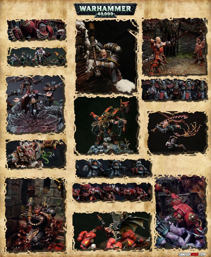 Chaos, Khorne, Space Hulk, Space Marines, Warhammer 40 000