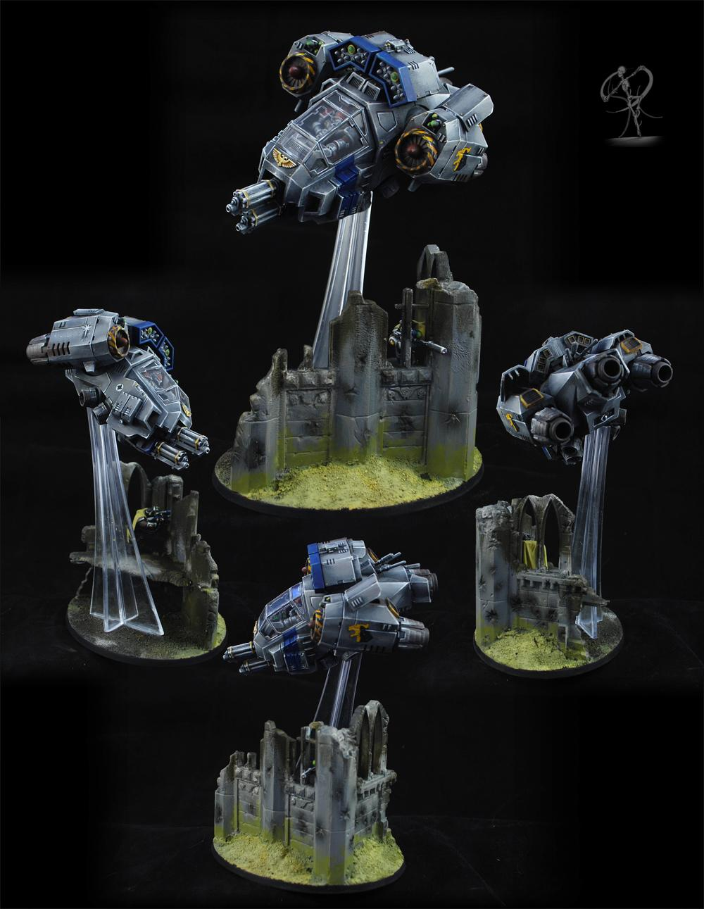 Aircraft, Badab, Base, Conversion, Non-Metallic Metal, Ruins, Space Marines, Vehicle, Warhammer 40,000