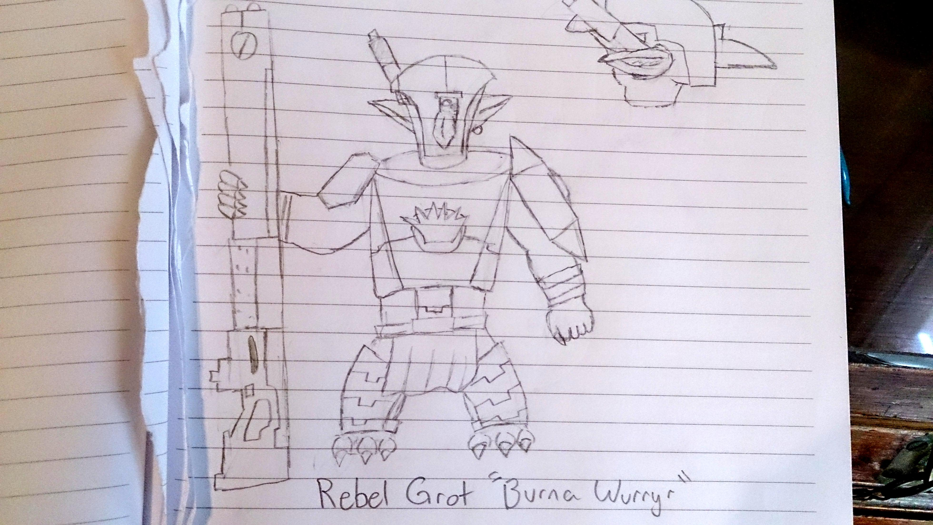 Conversion, Gretchin, Rebel Grots, Sketch