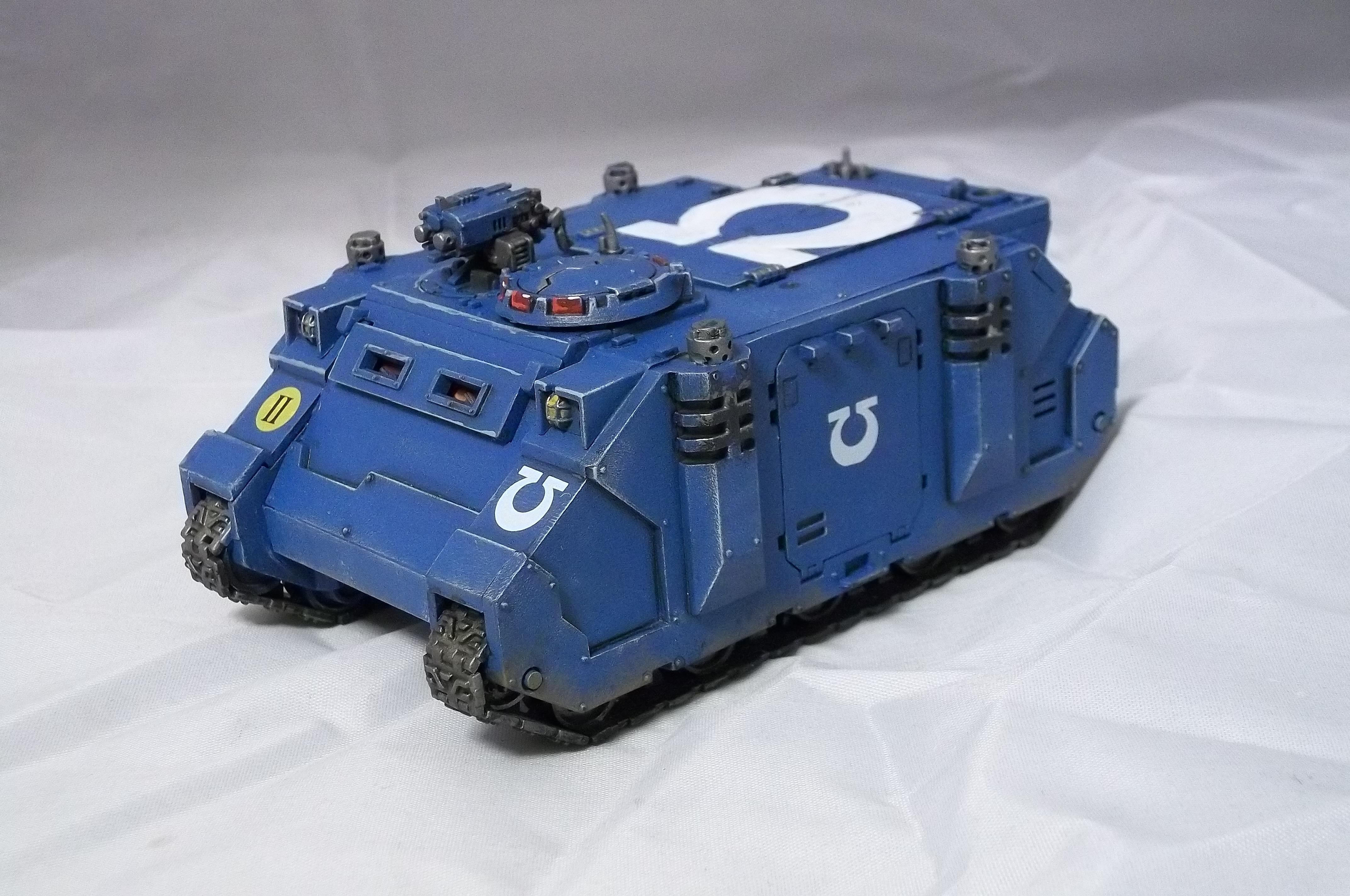 Retro, Rhino, Space Marines, Tank, Ultramarines