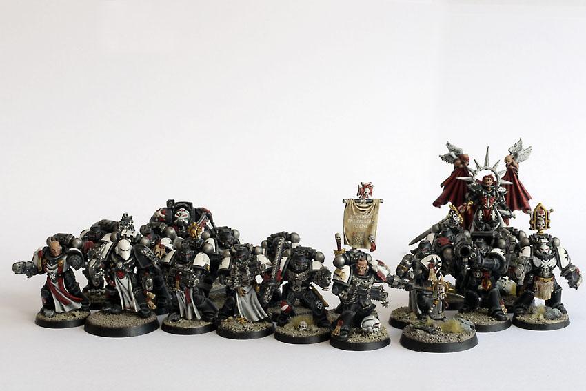 Adepta Sororitas, Army, Black Templars, Collection, Crusade, Crusader, Crusader Squad, Sergeant, Sisters Of Batte, Space Marines, Sword Brother, Tactical Squad, Terminator Armor
