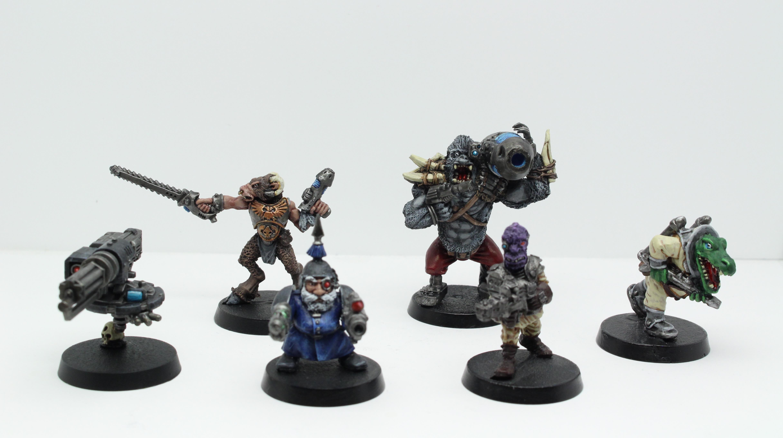 Ashurian, Beastmen, Bounty Hunter, Drone, Gorilla, Inquisitor, Judge Dredd, Klegg, Necromunda, Squats