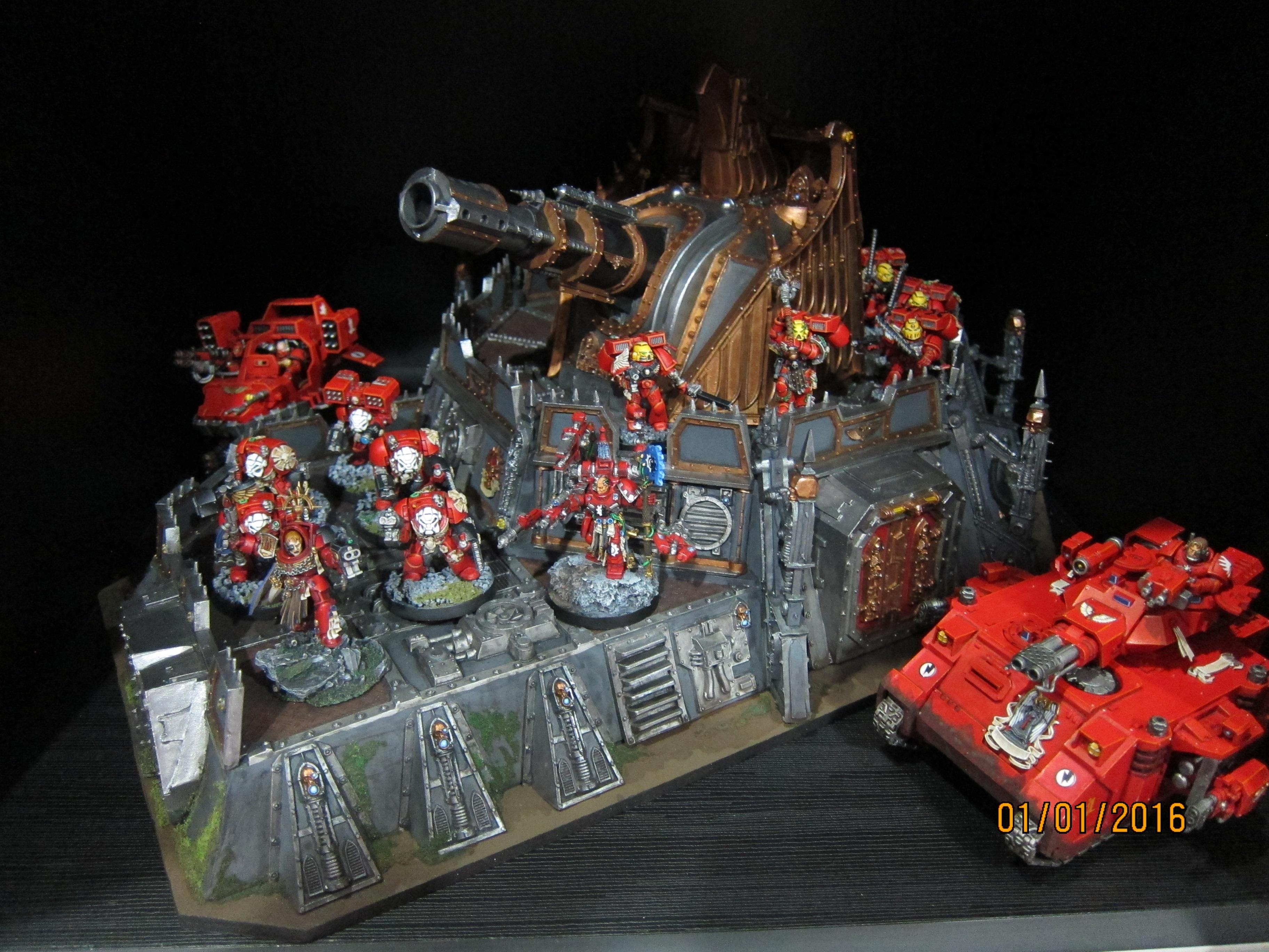 Aquilla Strongpoint, Blood Angels, Bunker, Fortress, Wall Of Martyrs