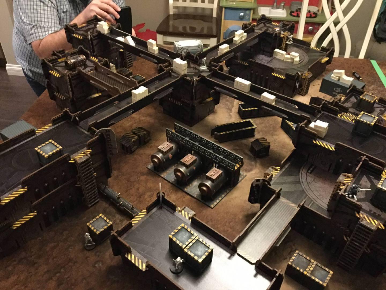 Crates, Factory, Necromunda, Terrain