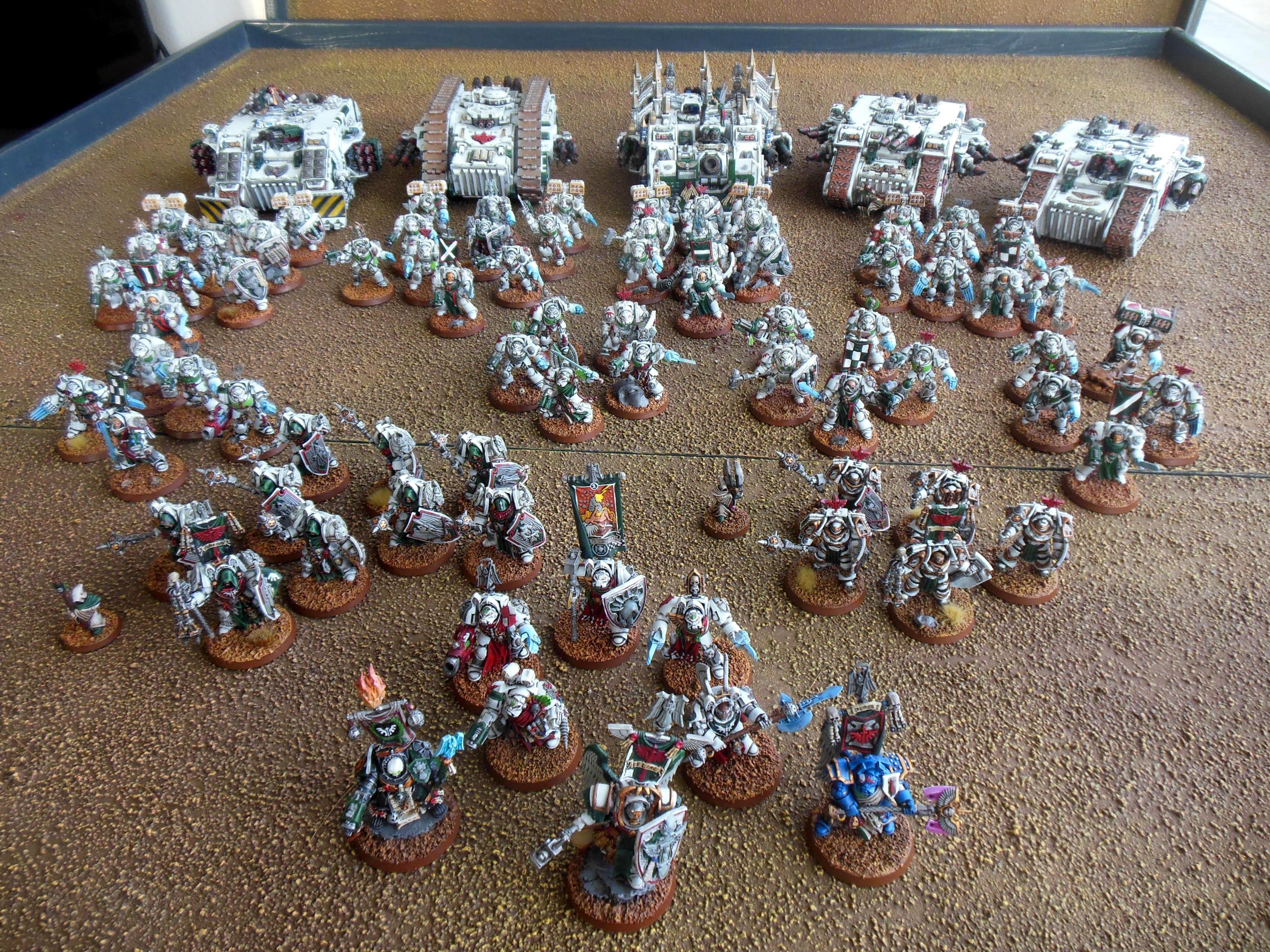 Belial, Dark Angels, Deathwing, Land Raider, Land Raider Ares, Space Marines, Terminator Armor
