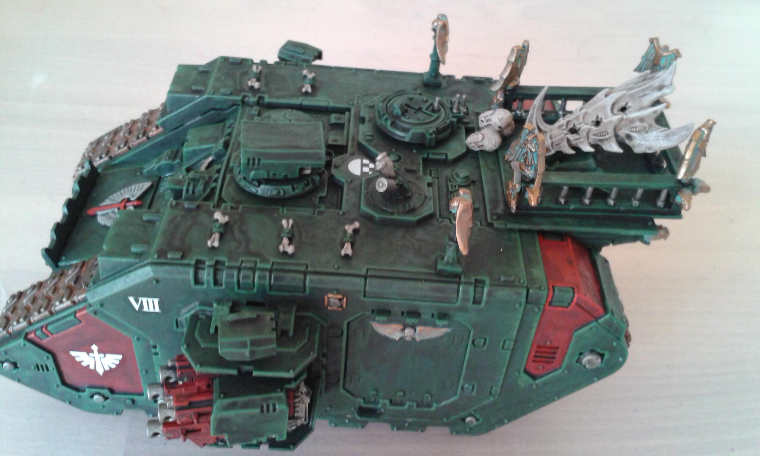 Conversion, Dark Angels, Land Raider, Land Raider Prometheus, Space Marines, Tank