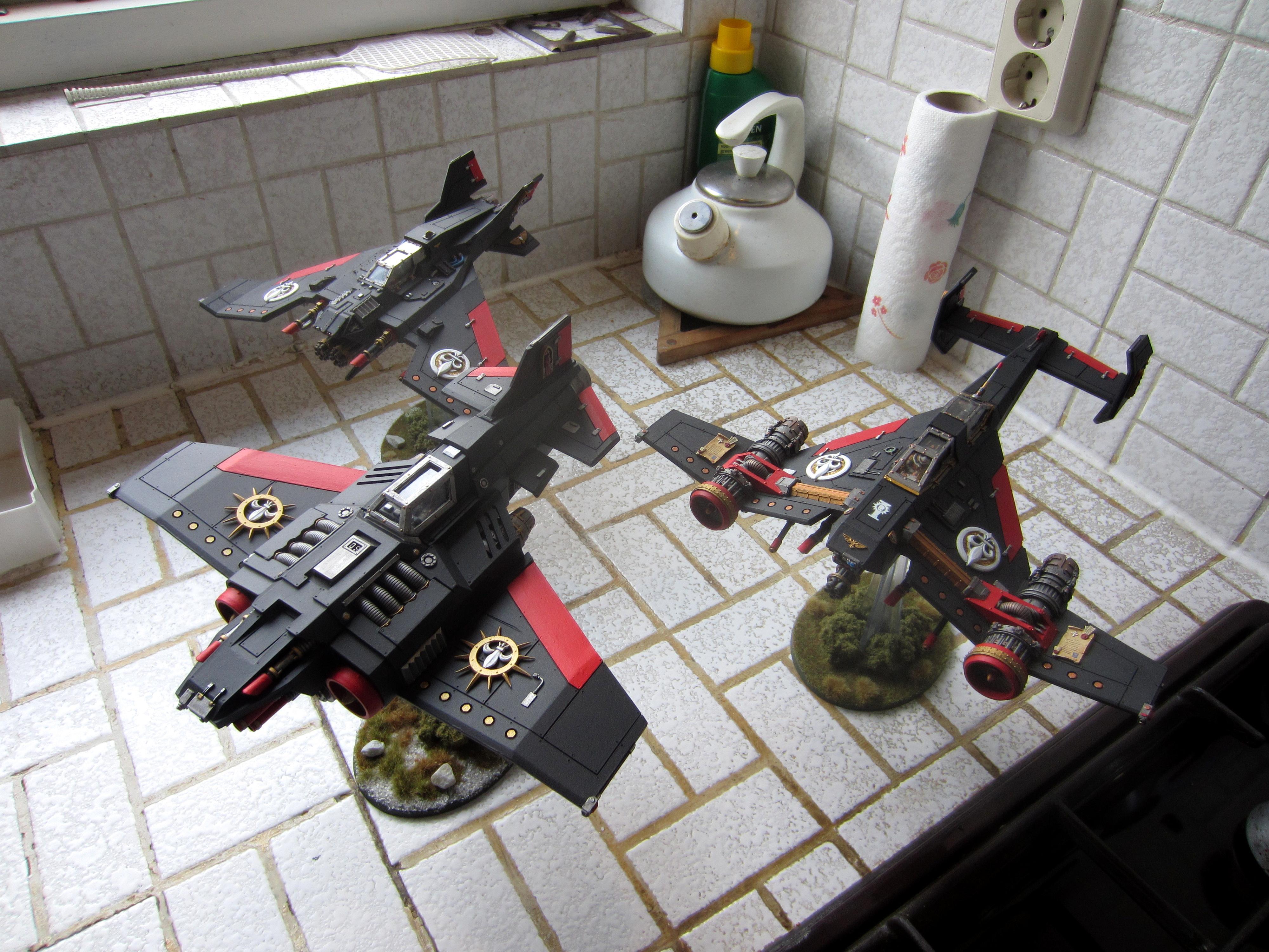 Adepta Sororitas, Avenger Strike Fighter, Flyer, Forge World, Lightning, Resin, Sisters Of Battle, Thunderbolt