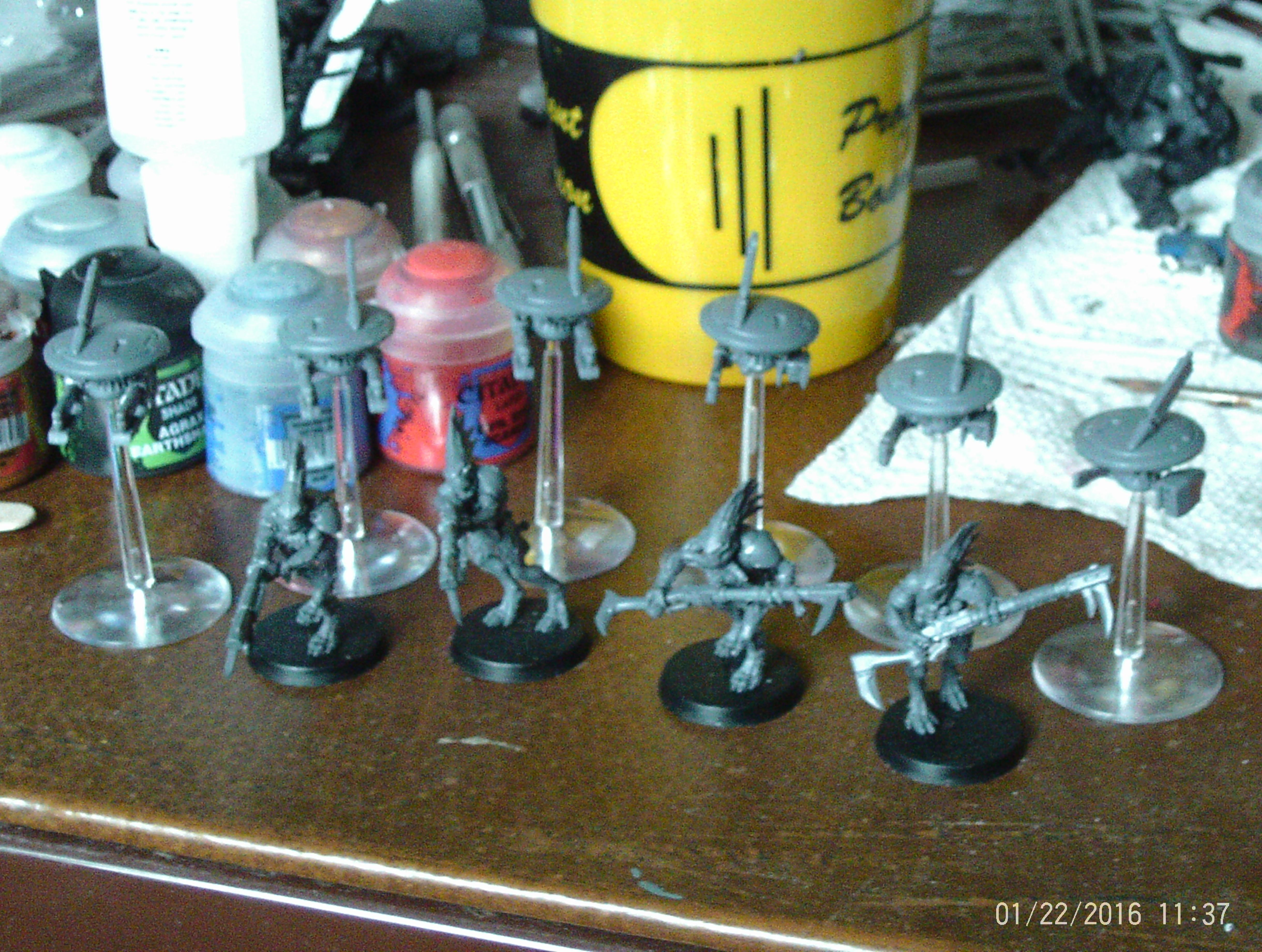 Kroot and Drones Assembled