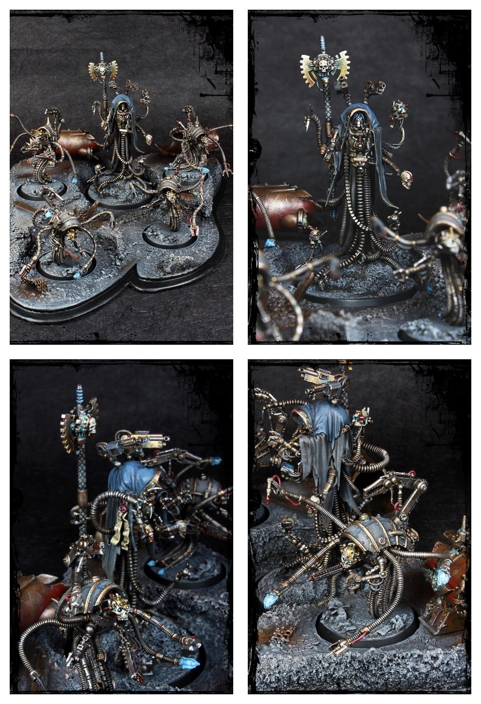 Achlys Iii, Adeptus Mechanicus, Admech, Arch-magos, Conversion, Diorama, Forge World, Mechanicum, Scratch Build, Scyllax Guardian-automata, Warhammer 40,000