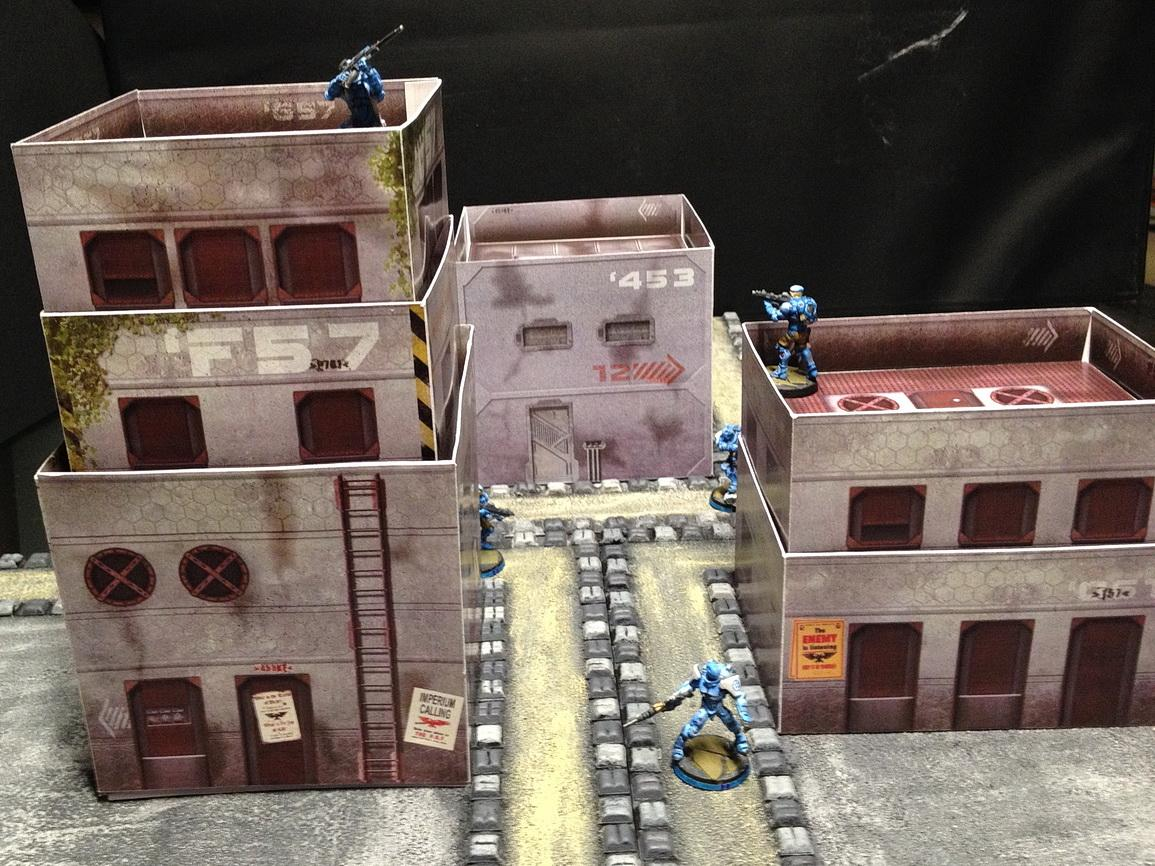 Buildings, City, Infinity, Paper, Sci-fi Style Buildingsfrom Wargameprint, Science-fiction, Terrain, Wargameprint, Warhammer Fantasy