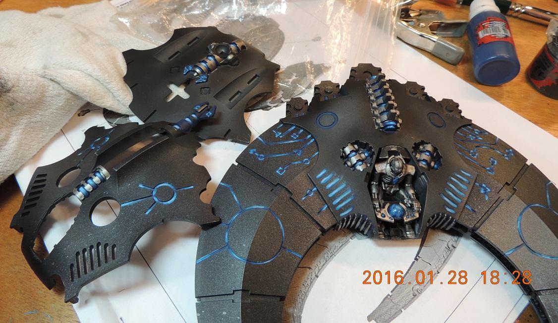 Blue Theme, Doomscythe, Necrons, Warhammer 40,000