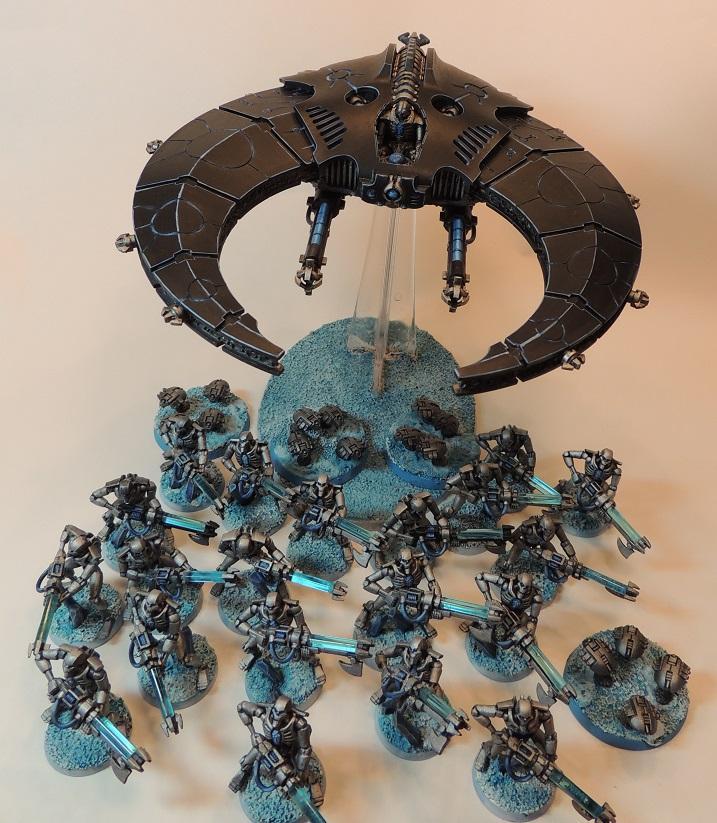 Blue Theme, Doomscythe, Necron Warriors, Necrons, Warhammer 40,000