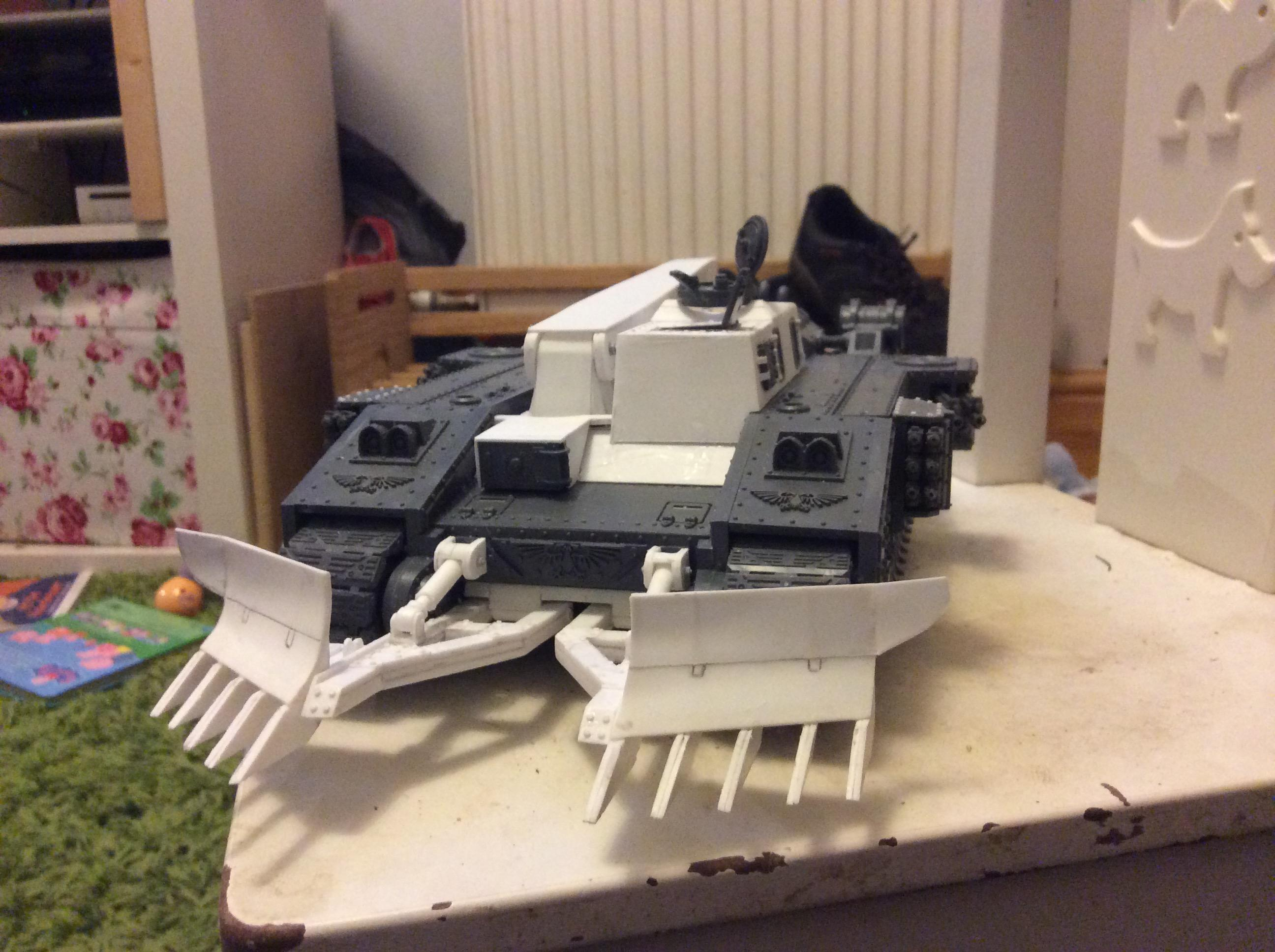 increase to crew compartment and scratch built mine ploughs