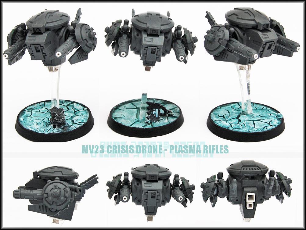 Battlesuit, Conversion, Crisis Battlesuit, Drone, Drones, Plasma Rifle, Tau, Tau Empire