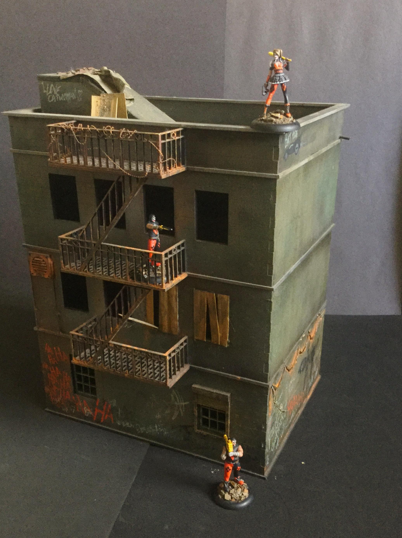 Batman, Buildings, Fire Escape, Modern, Tenament, Terrain
