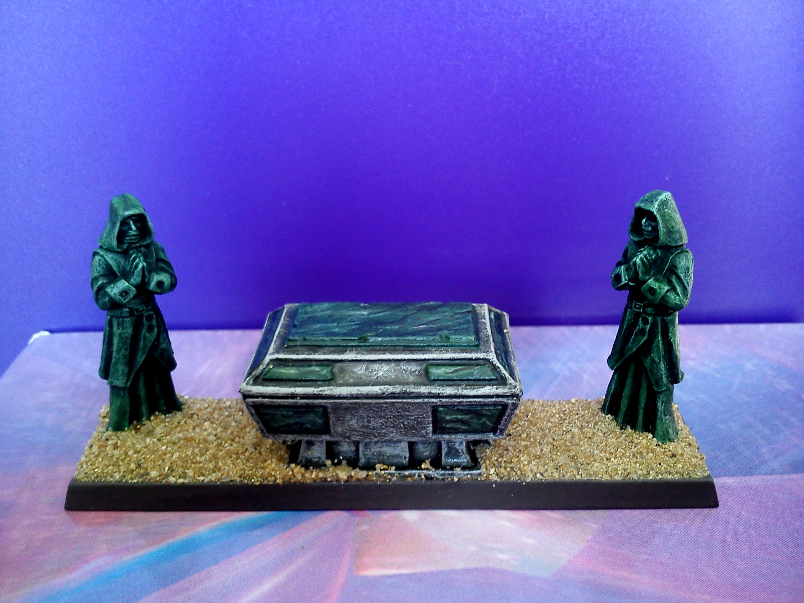 Casket with Green Marble