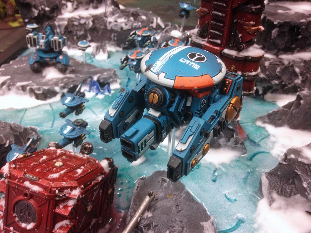 Armies On Parade, Containers, Conversion, Display Board, Drone, Drones, Frozen, Ice, Mountains, Railway, Riptide, Snow, Tau, Tau Empire