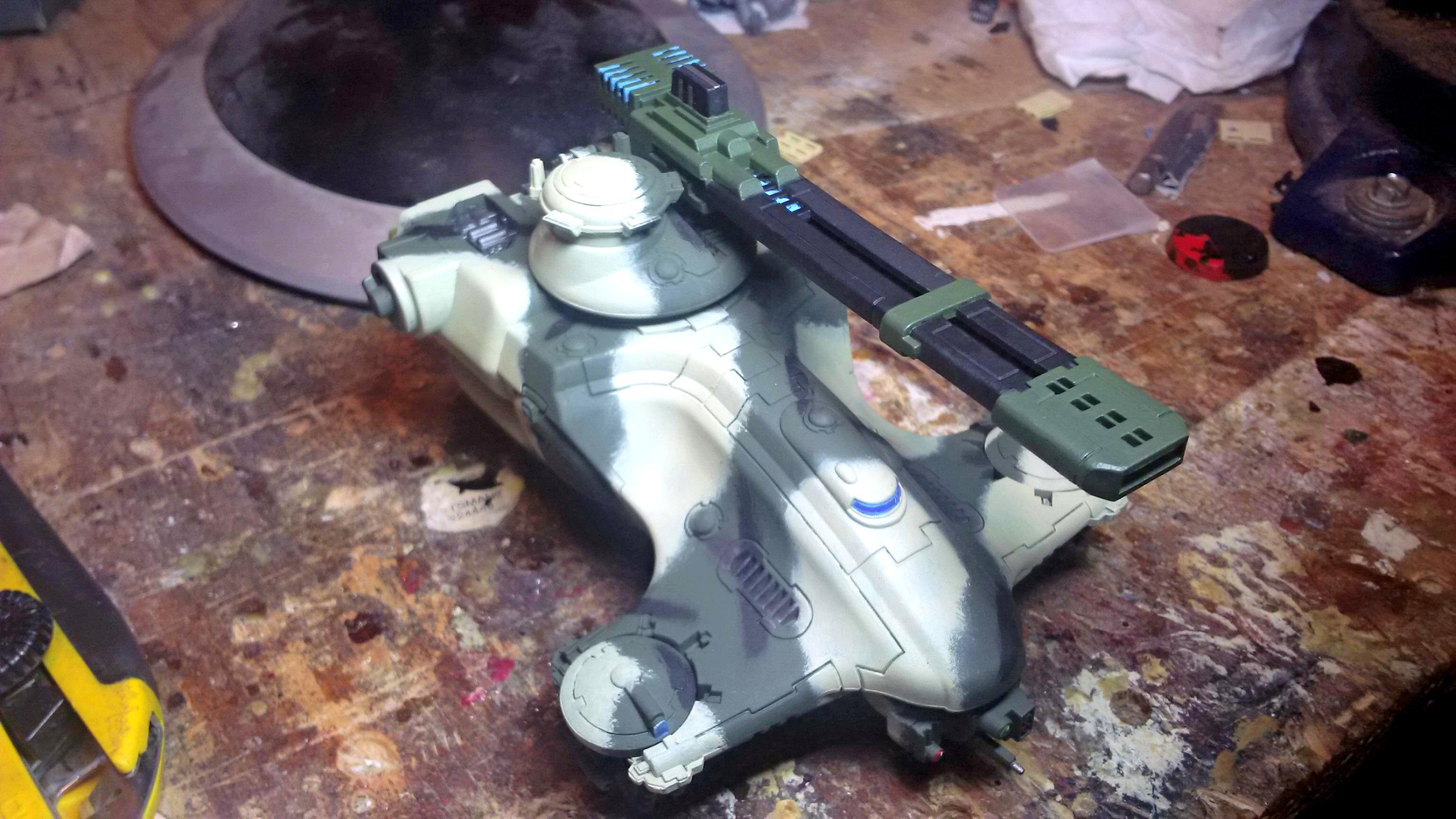 Camo Tau, Camouflage, Hammerhead, Modern, Tank, Tau, Work In Progress
