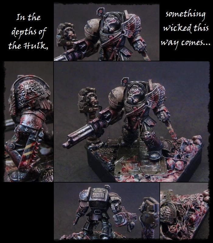 Deathwatch, Kill Team, Space Marines, Veteran, Warhammer 40,000, Weathered