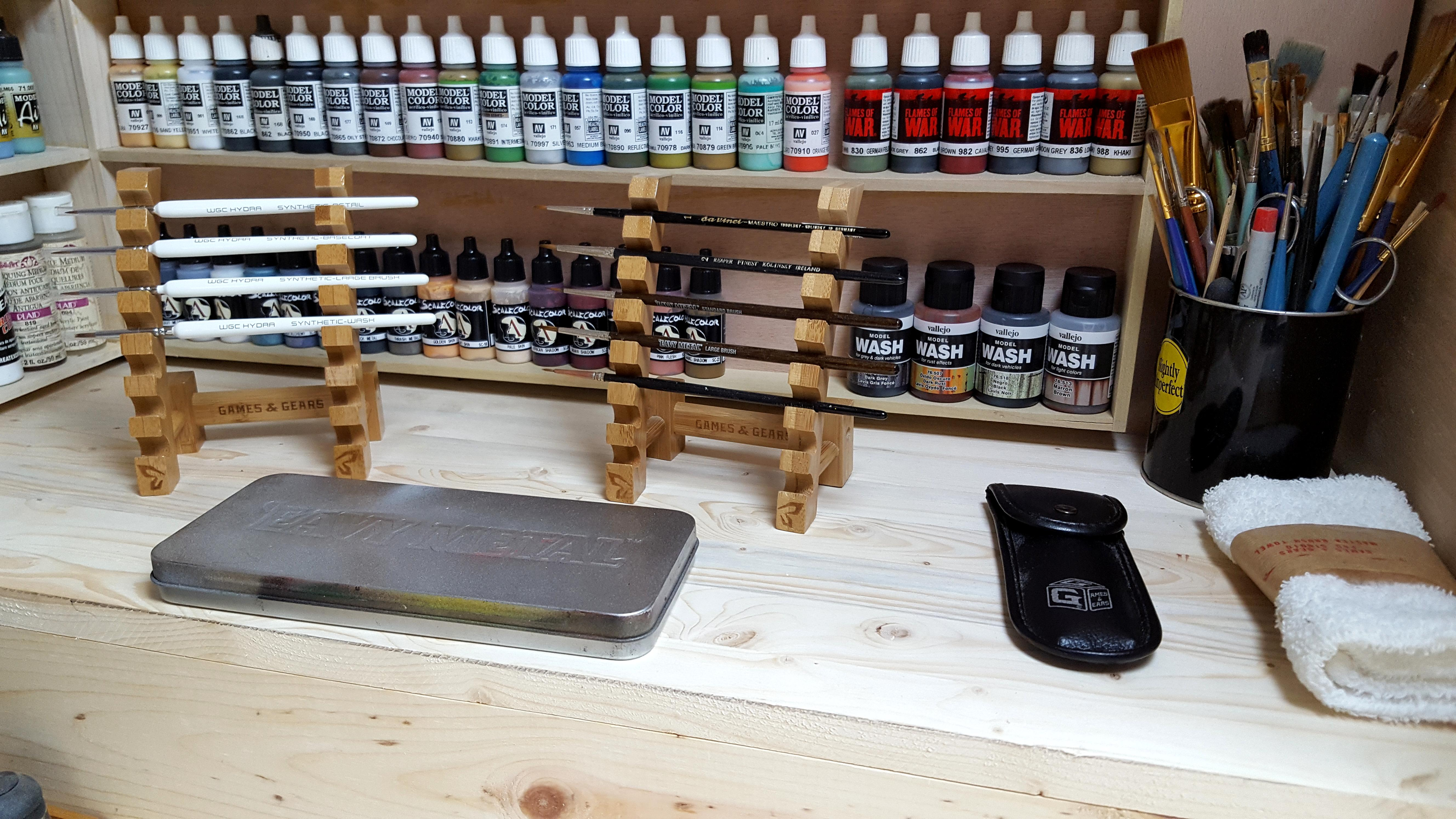 Bench, Painting, Workbench