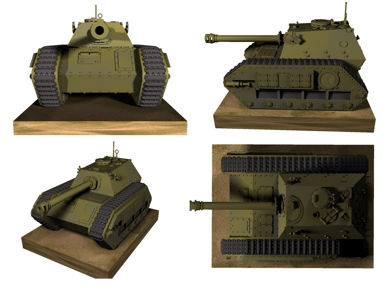 3d Printed, 3d Printing, Alternative, Armor, Destroyer, Elefant, Germans, Guard, Hunter, Imperial, Militarum, Miniature, Nazi, Tank, Warhammer 40,000, Warhammer Fantasy