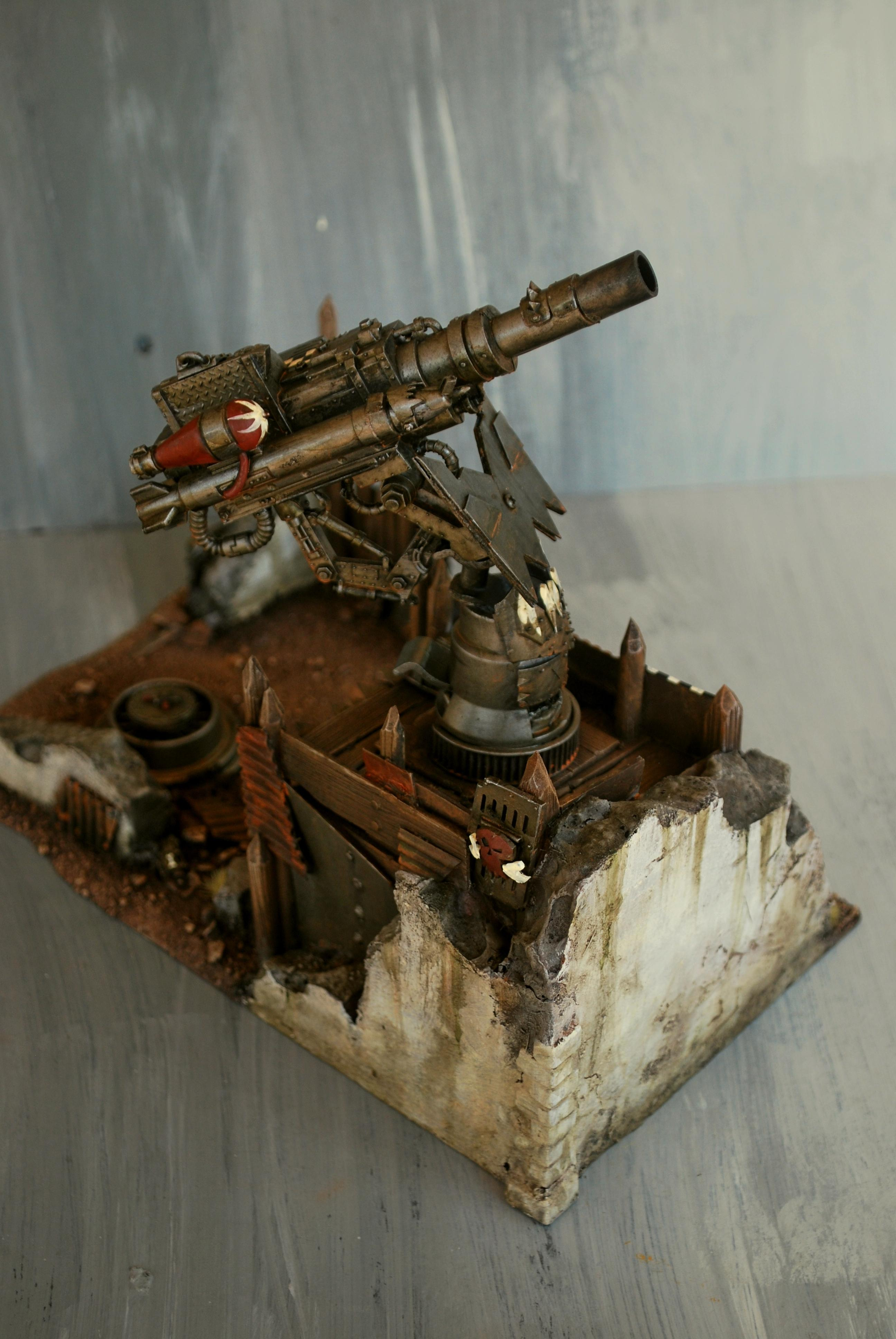 Aa-gun, Dakka Dakka, Gun, Orks, Scratch Build, Terrain, Terrainwalk3r, Terrainwalker, Warhammer 40,000