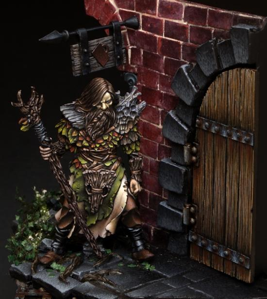 Diorama, Druid, Flameon, Non-Metallic Metal, Warhammer Fantasy, Weles