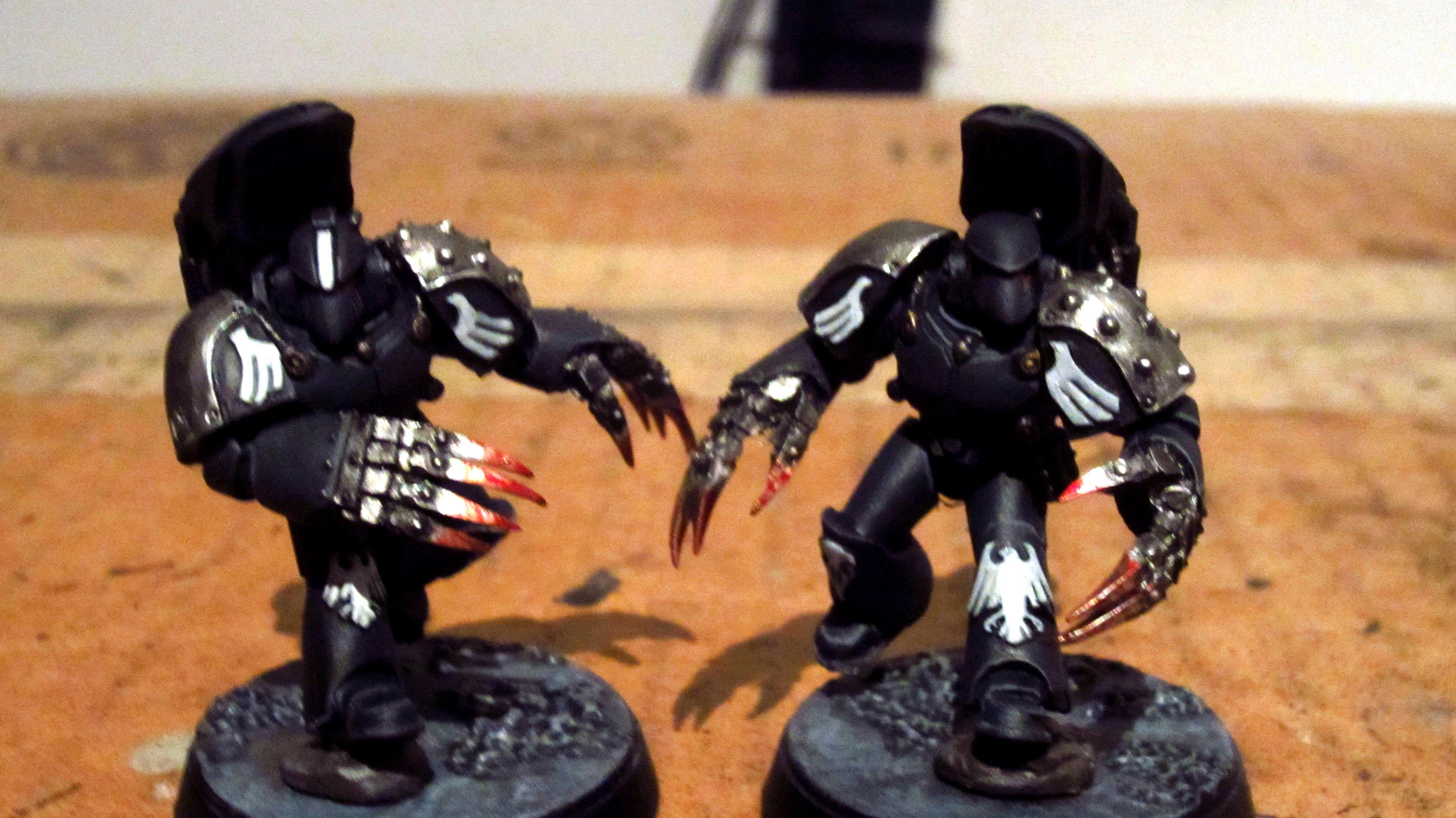 30k, Black, Dark Fury, Horus Heresy, Jump Pack, Lightning Claws, Raven Guard, White