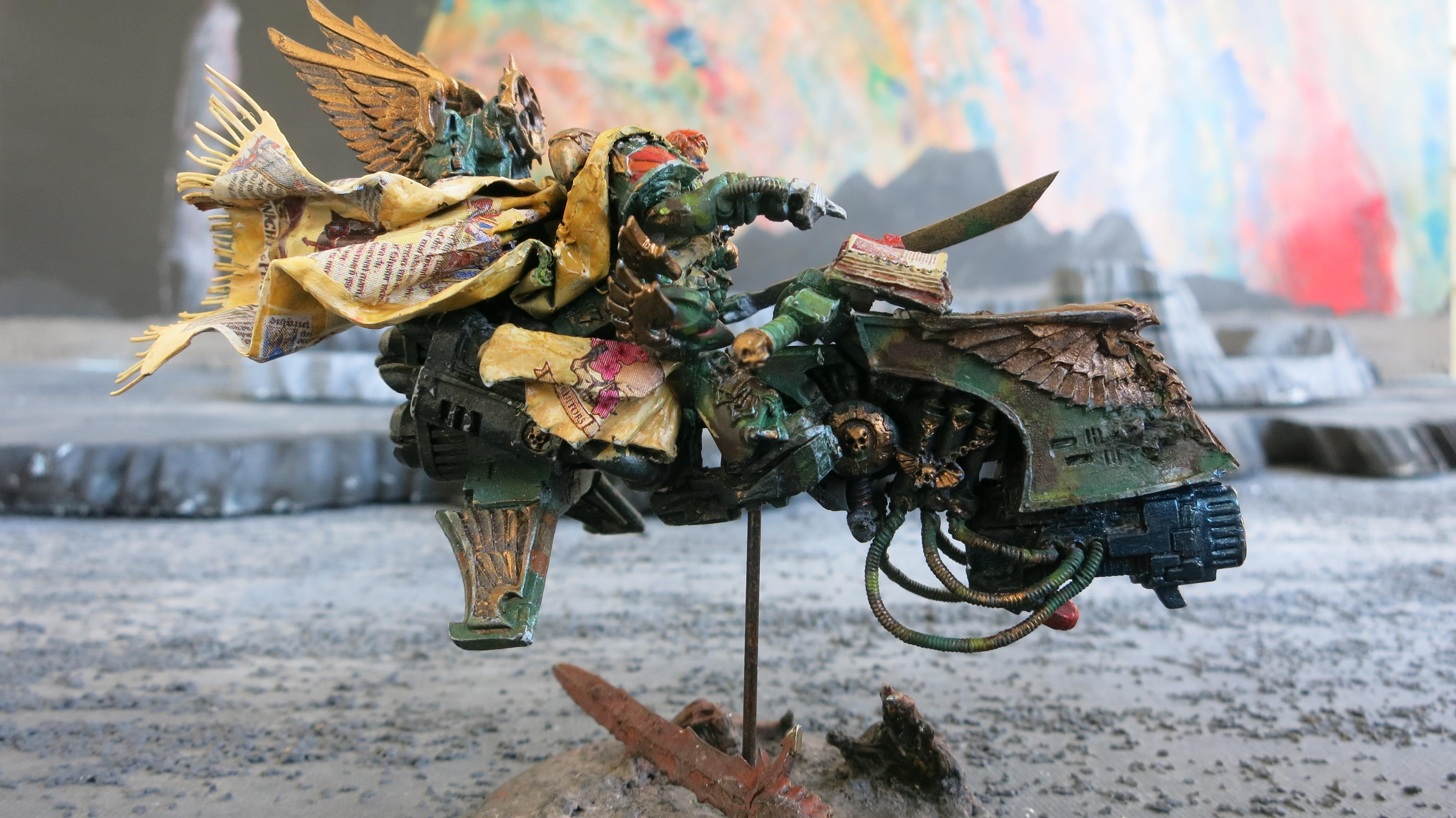 Bike, Command Squad, Corvex, Dark Angels, Jeetbike, Ravenwing, Relic Of Caliban, Sammael