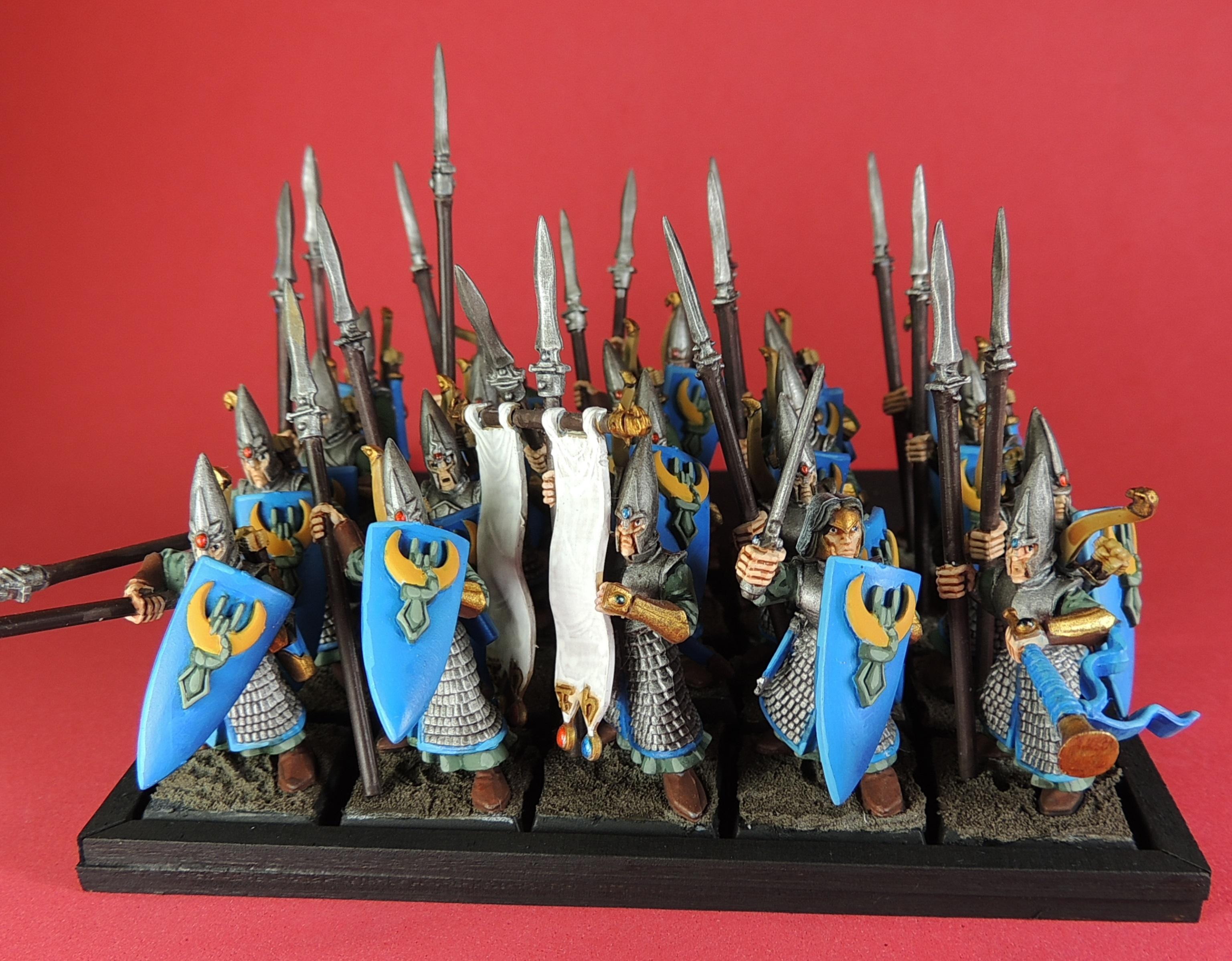 Elf Spearmen - different background