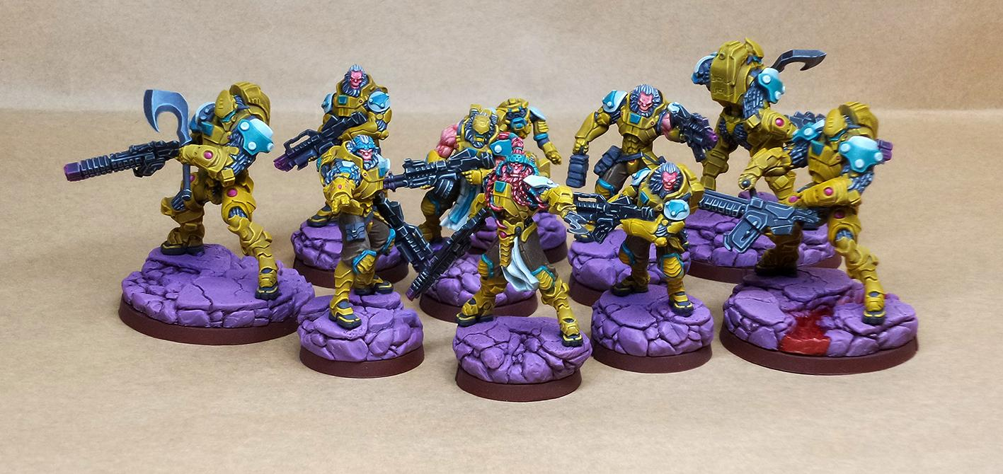Anyat, Conversion, Corvus Belli, Engineer, Hacker, Infinity, Kornak, Medic, Morat, Sculpting, Sogarat, Vanguard