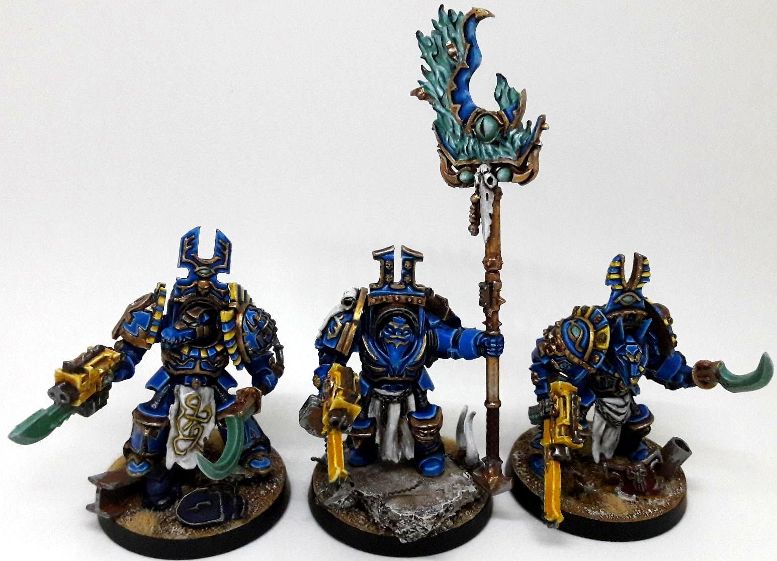 Chaos Space Marines, Conversion, Terminator Armor, Thousand Sons, Tzeench