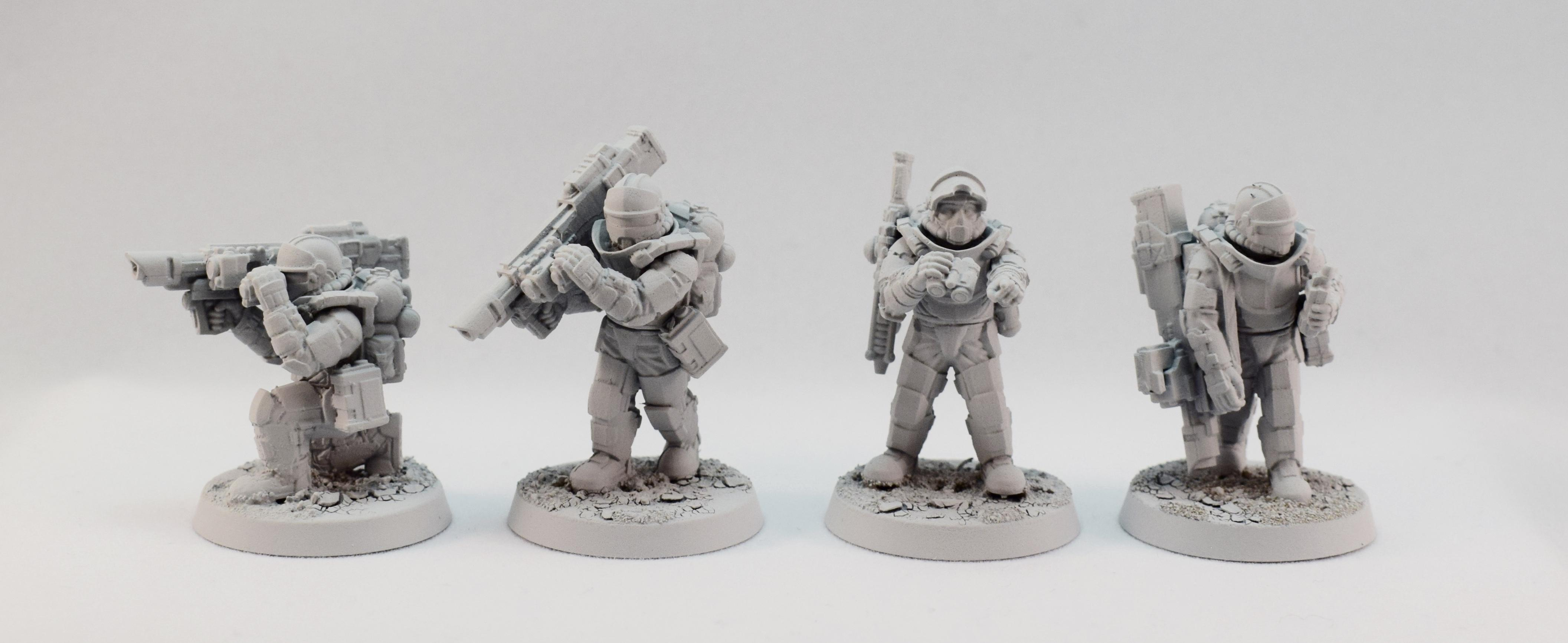 Heavy Weapon Team, Martian Orbital Fusiliers, Regiments