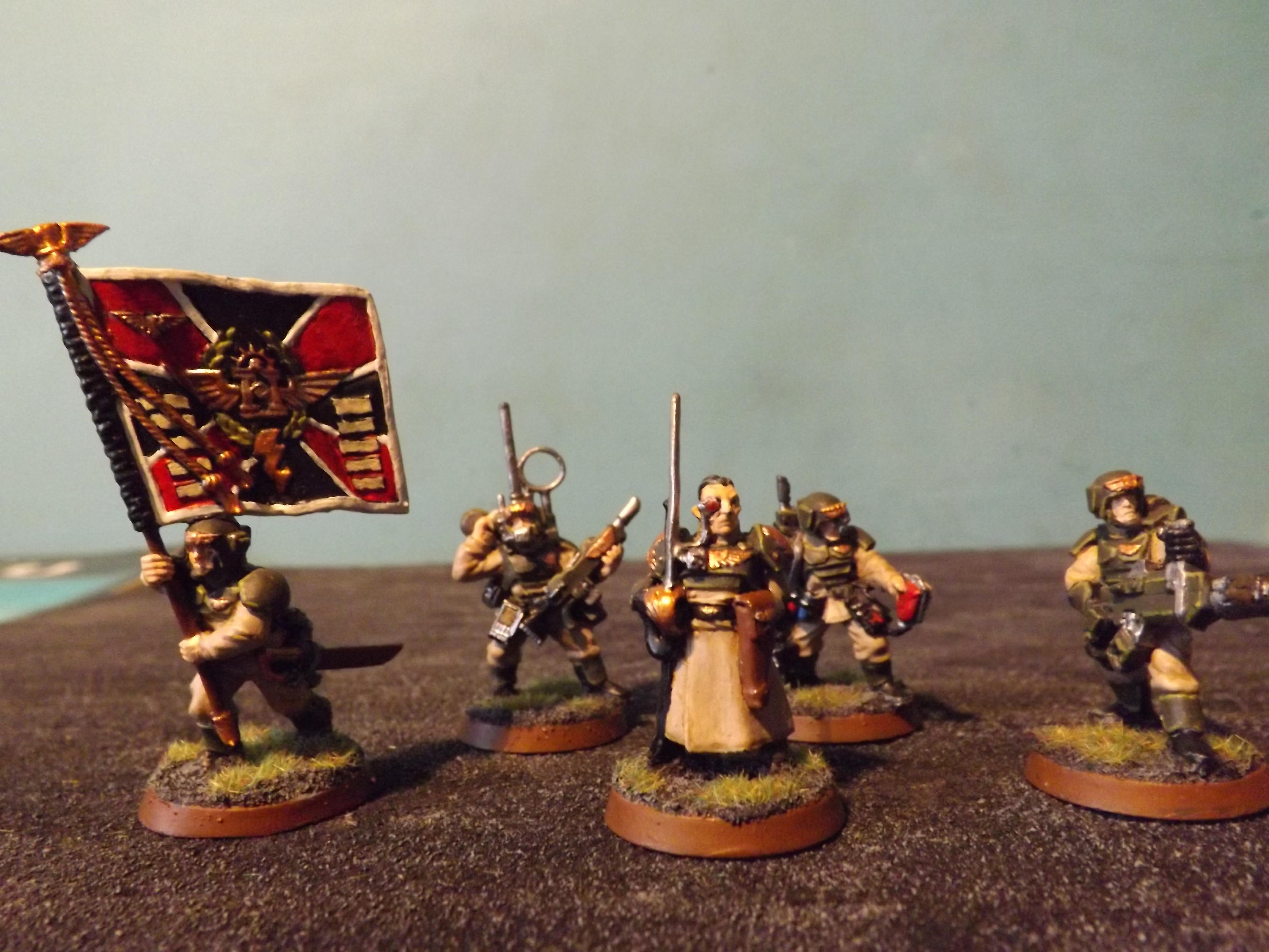 Imperial Guard Regimental Command Squad.(1)