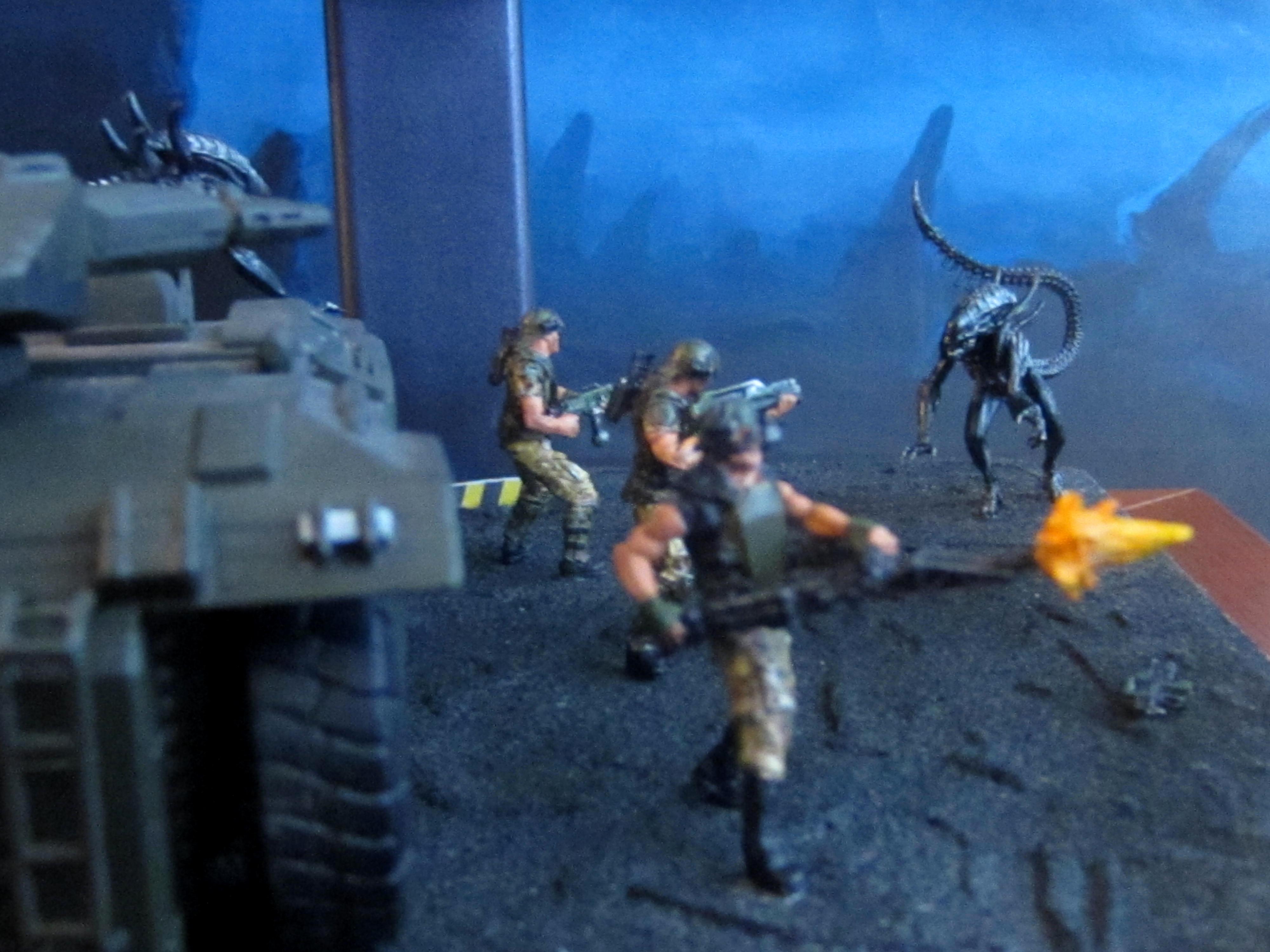 28mm, 30mm, Aliens, Apc, Colonial Marines, Diorama, Prodos, Wargame, Xenomorph