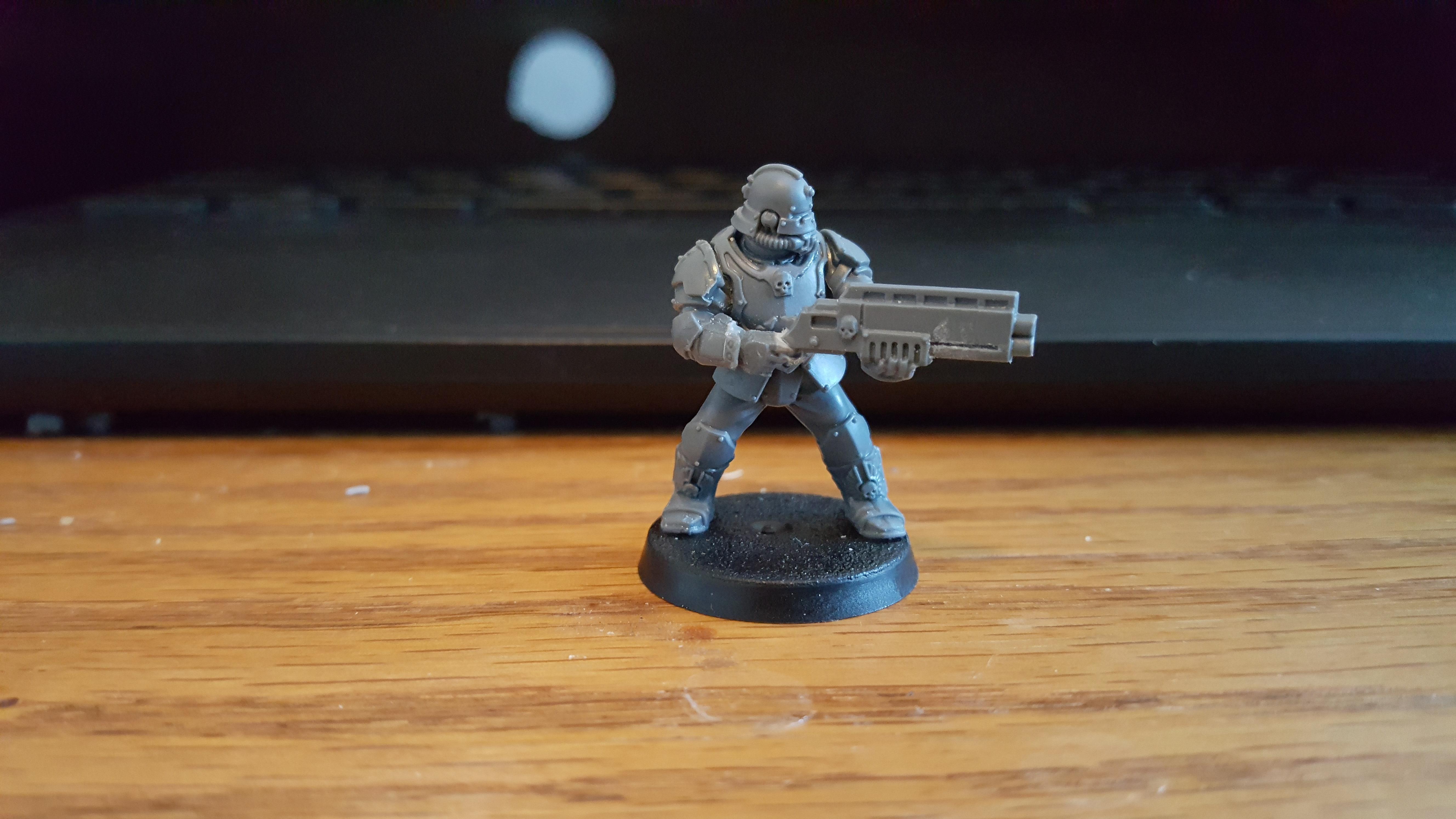Adeptus Arbites, Enforcer, Kitbash, Necromunda, Shotgun