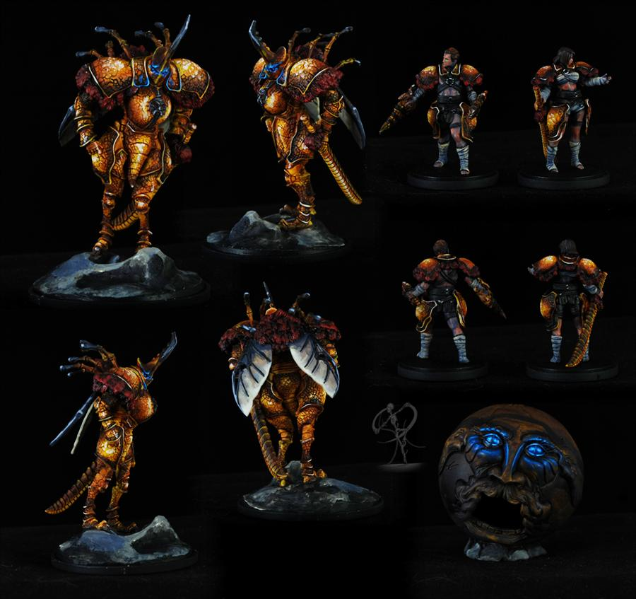 Insect, Kingdom Death, Monster, Non-Metallic Metal, Object Source Lighting, Warhammer Fantasy