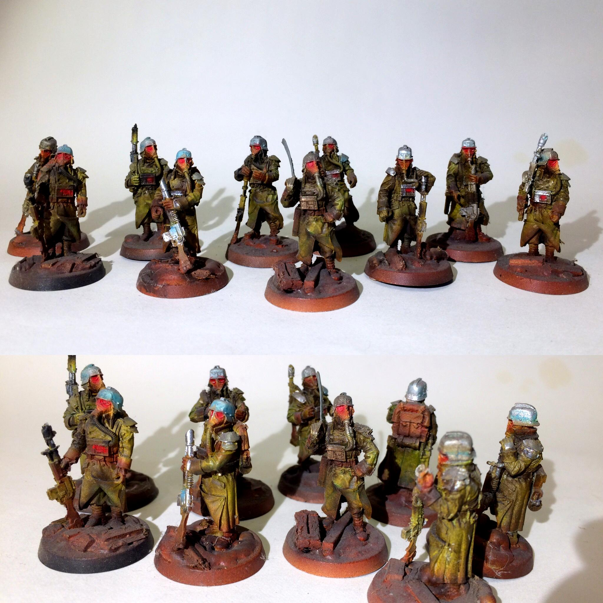 Airbrushed, Astra Militarum, Custom, Death Korps of Krieg, Flocked, Forge World, Infantry, Warhammer 40,000