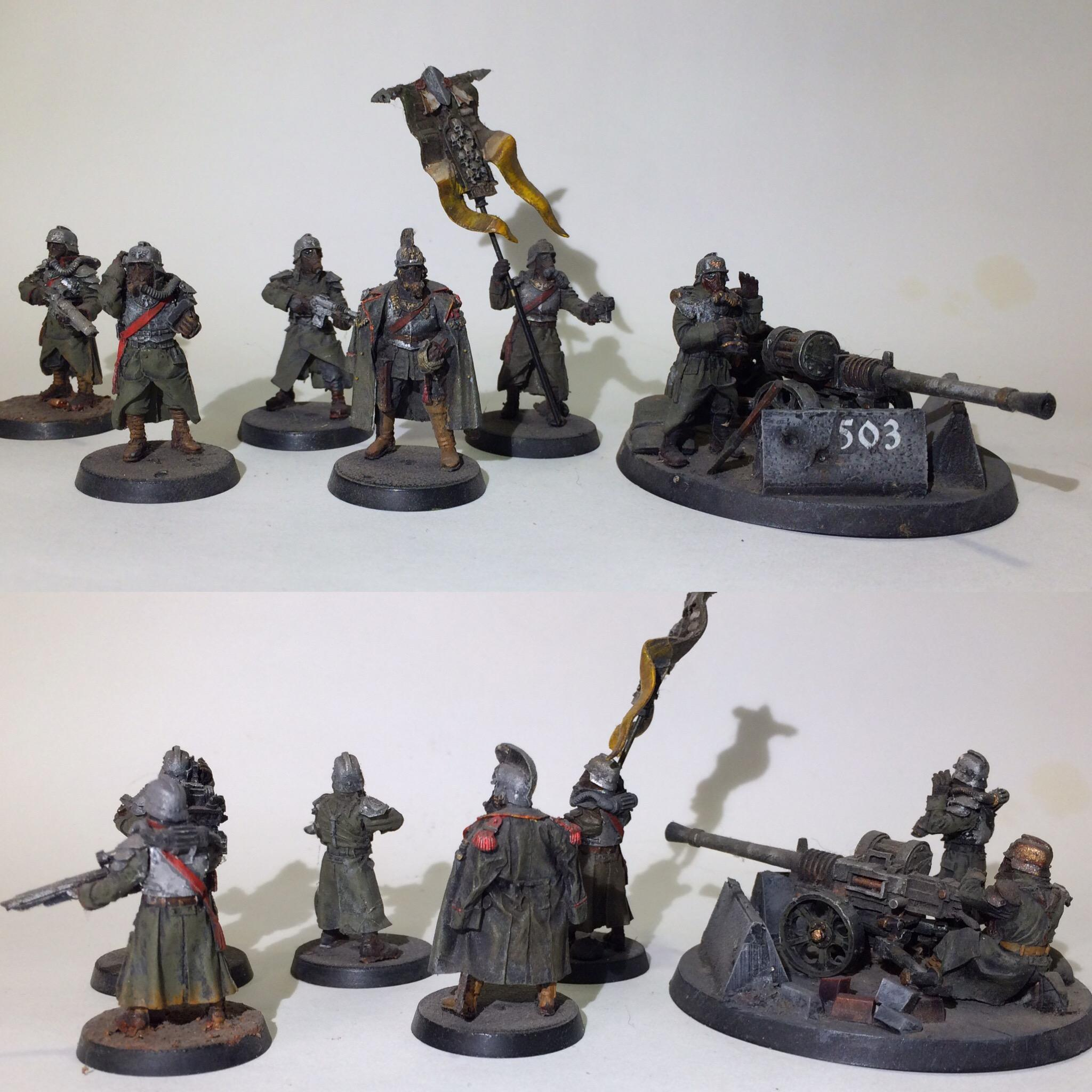 Airbrushed, Astra Militarum, Autocannon, Custom, Death Korps of Krieg, Flocked, Forge World, Heavy Weapons Team, Hq Command Squad, Infantry, Warhammer 40,000