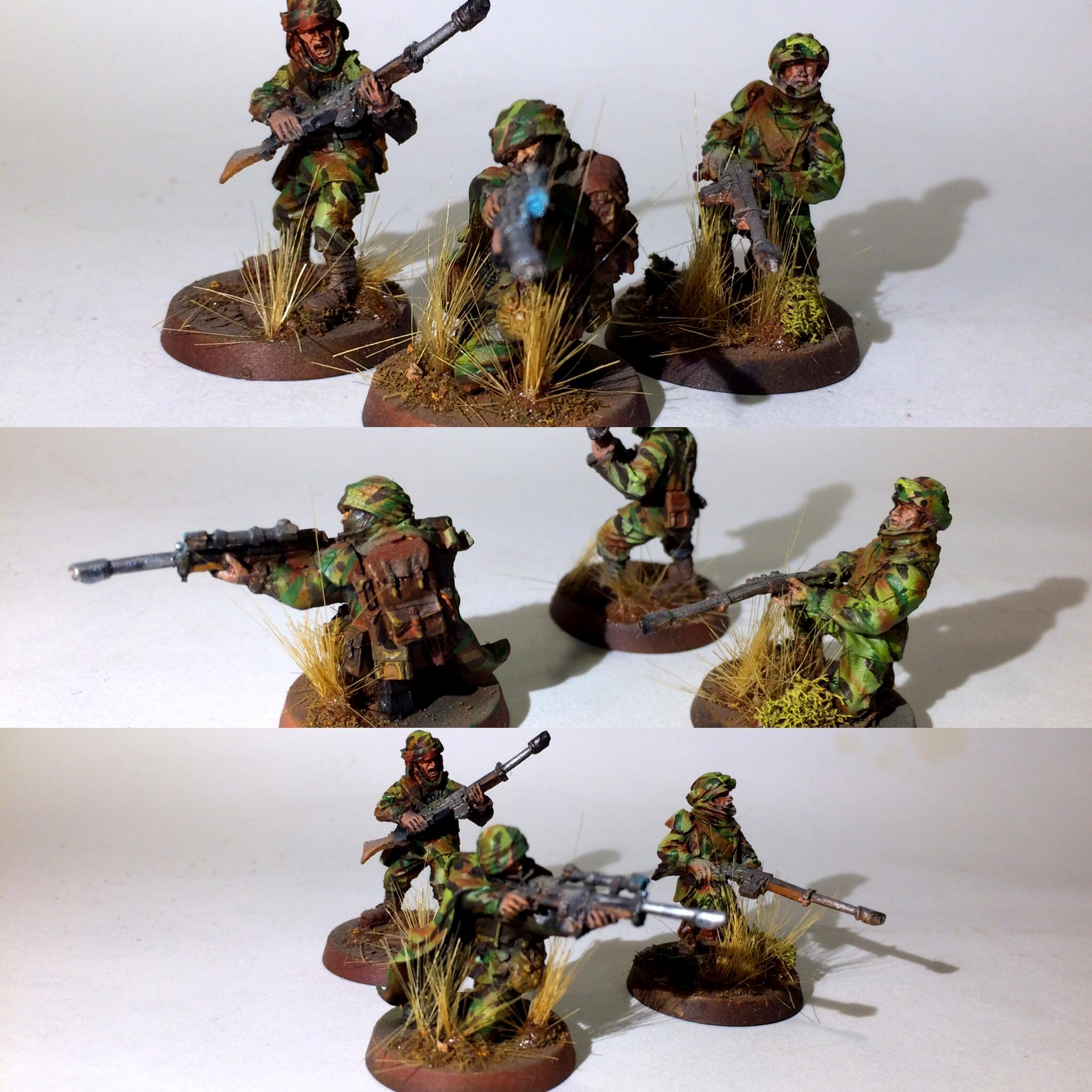 Airbrushed, Camouflage, Death Korps of Krieg, Flocked, Forge World, Scouts, Snipers, Tallarn Desert Raiders, Warhammer 40,000