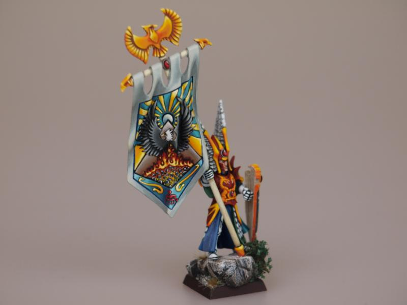 High Elves, High Elves Bsb Painted Warhammer, Standard Bearer, Warhammer Fantasy